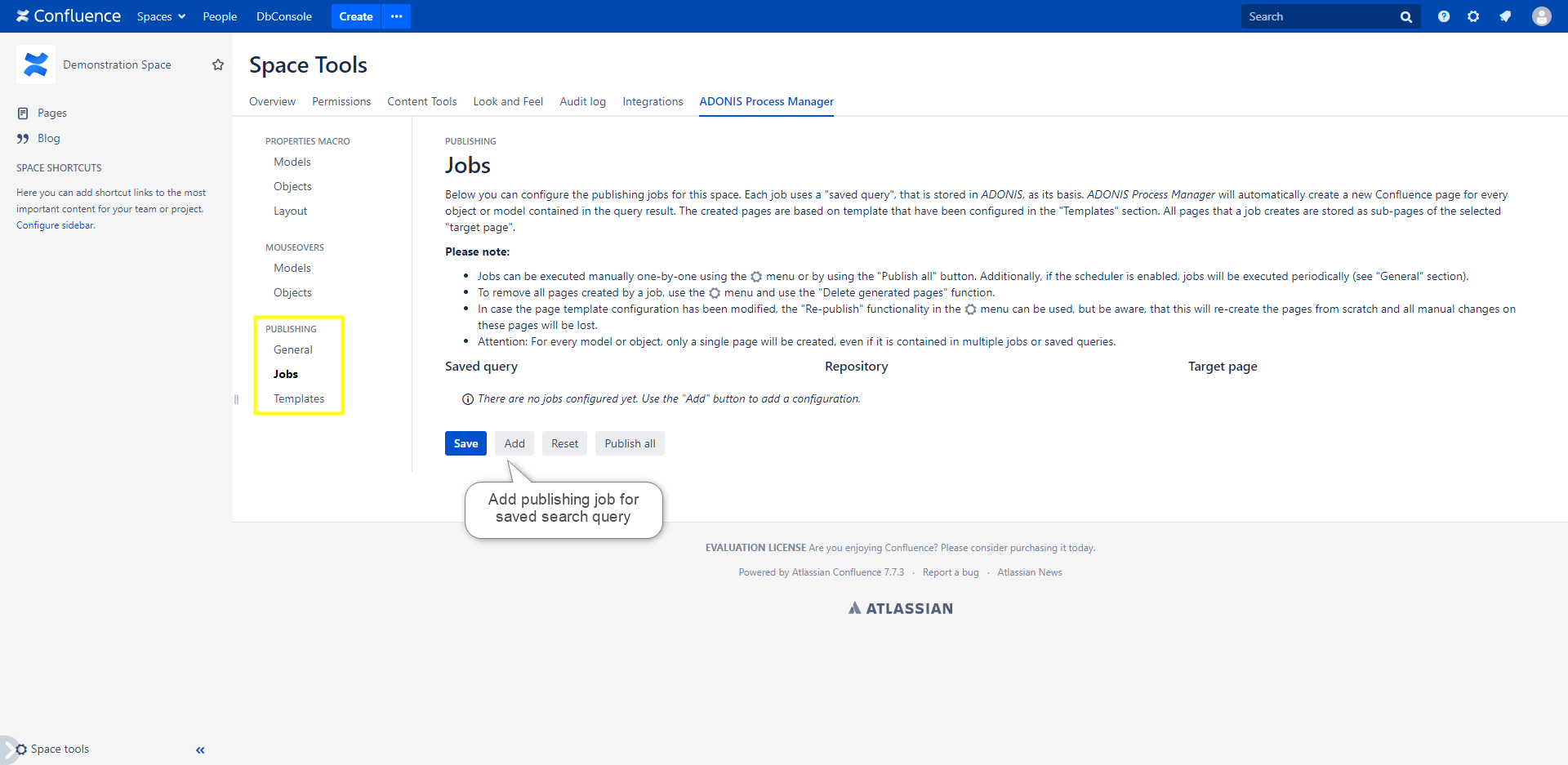 Automatic Publishing Jobs configuration